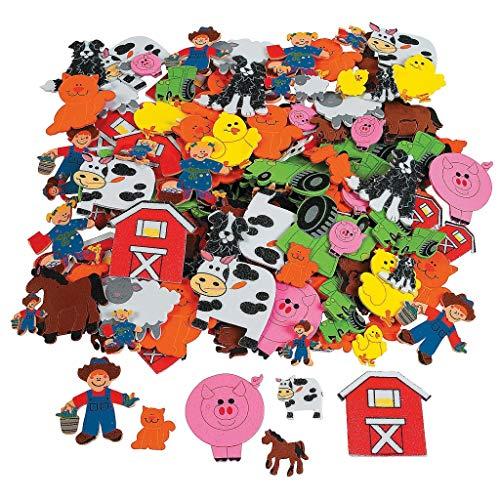 ufkleber Bauernhof - Sticker mit Tieren von der Farm - aus Moosgummi - 50 Stück ()