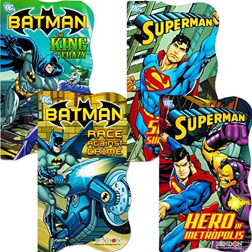DC Comics Batman vs Superman Board Books for Toddlers – Set of Four Books (2 Batman Books, 2 Superman Books) 61s6Tvm371L