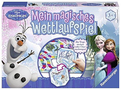 Ravensburger 21157 - Disney Die Eiskönigin Mein magisches Wettlaufspiel (Disney Prinzessin Elsa Und Anna)