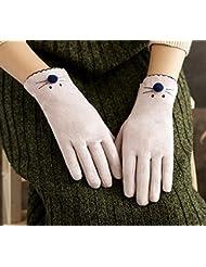 Longless Linda pantalla táctil de colegiala de otoño e invierno más terciopelo engrosamiento conducción caliente cycling fingering dedo guantes