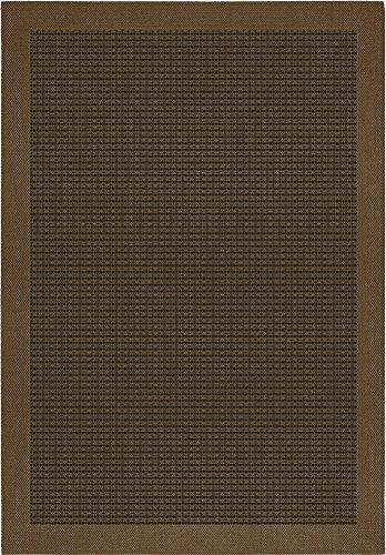 F & S FUNCHAL 160 x 230 cm marron alfombra moderna Flat Weave en aspecto de Sisal para sala de estar, dormitorio, pasillo, oficina, balcón y patio. Para uso INTERIOR y EXTERIOR. Fabricado en EUROPA OCCIDENTAL