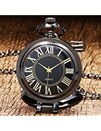 New Arrival Unique 270 Degree Clamshell Case With Glass Quartz Fob Pocket Watch With Chain Office Furnishings