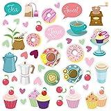 Wandkings Fliesensticker - Wähle ein Motiv - Kaffeeklatsch - Sticker für z.B. Fliesen, Fliesenspiegel in Küche & mehr
