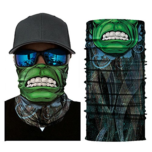 MMLC Fishing Company Face Shield Sturmhaube *viele verschiedene Designs* Multiunktionstuch Maske Fishing Totenkopf Schal Skull Bandana Gesichtsmaske Halstuch Ski Motorrad Paintball Halloween Maske (B)