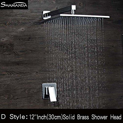 Luxurious shower Envío gratuito de latón de una sola función empotrables en...