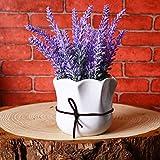 GSYLOL 1 Stück Mini Künstliche Pflanze Topf Lavendel Bonsai Pastoralen Dekor Hause Dekorative Für Hochzeit Büro Wohnzimmer, a