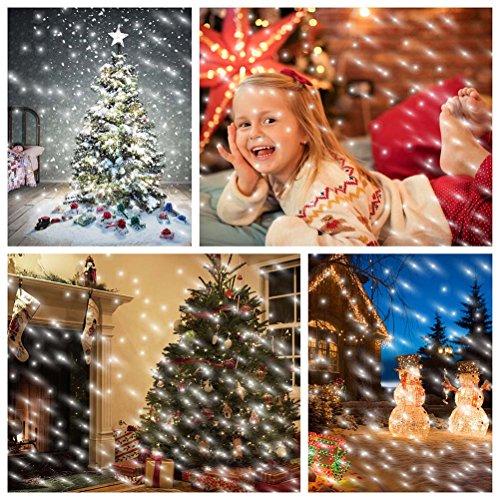 SMITHROAD LED Projektionslampe mit Fernbedienung Bewegliche Punkte Schneefall-Lichteffekt – Halloween – Karneval – Weihnachten Innen & Außen - 7