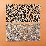 Qinpin Schablonen, Schneeflocken-Design, Metall, für Scrapbooking, Album, Papierkarte, Karbonstahl, e, Einheitsgröße