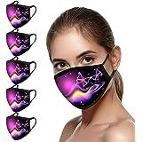 5 Stück Damen Mundschutz mit Motiv Schmetterling Baumwolle Stoff Waschbar Atmungsaktiv Staubdichte Mund und Nasenschutz…