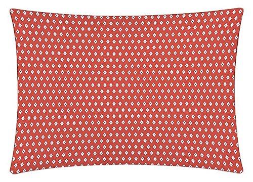 Matt&Rose Esprit Géométrique Taie d'Oreiller Coton Brique/Gris/Blanc 70 X 50 cm