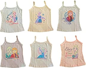 BODYCARE 100% Cotton-Hosiery Frozen Printed, Stylish Slip for Girls and Kids [Pack of 6]