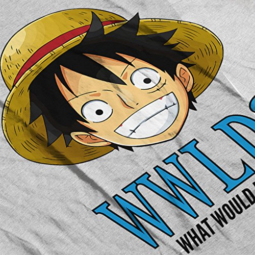 WWLD What Would Monkey D Luffy Do One Piece Women's Hooded Sweatshirt Heather Grey