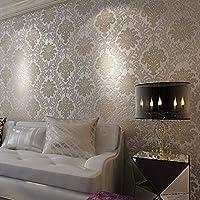 Damasco, continentale europeo Palace Luxury modellato schiuma legante adesivo carta da parati in tessuto non tessuto tappezzeria Home Hotel , a2611