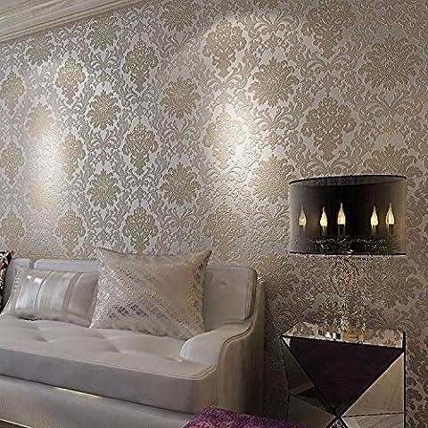 BTJC Damasco, continentale europeo Palace Luxury modellato schiuma legante adesivo carta da parati in tessuto non tessuto tappezzeria Home Hotel , a2611