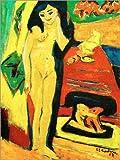 Acrylglasbild 60 x 80 cm: Nacktes Mädchen Hinter Vorhang (Fränzi) von Ernst Ludwig Kirchner/akg-Images - Wandbild, Acryl Glasbild, Druck auf Acryl Glas Bild