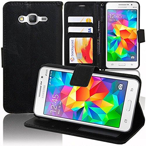 Custodia Cover Custodia Supporto Video Libro Portafoglio Pelle PU per Samsung Galaxy Grand Prime SM-G530F/(4G) Value Edition sm-G531F