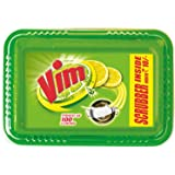 Vim Dishwash Bar Lemon Tub, With Power Of 100 Lemon, Fastest On Burnt Food Stains, Comes With A Sturdy Re-Usable Box And Free