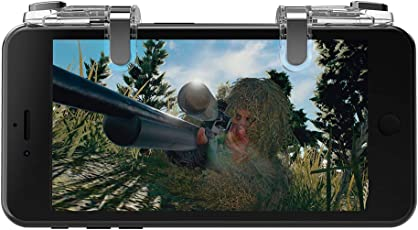 Mobile Game Controller Triggers Joysticks - KACOOL PUBG / Fortnite / Knives Out Mobile Controller, Sensitive Shoot and Aim Triggers for L1R1 Mobile Gaming Trigger Joystick for Android & iPhone (Transparent) -【New Arrival】