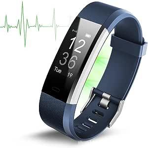 Smart Armband Id115 Plus Hr Herzfrequenz Uhr Fitness Aktivität Tracker Sport Armband Für Ios Android Blue Sport Freizeit