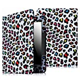 Fintie Folio Case for Kindle Voyage - Premium PU Leather Book Style Case Cover with Auto Sleep/Wake (will only fit Amazon Kindle Voyage 2014), Leopard Rainbow