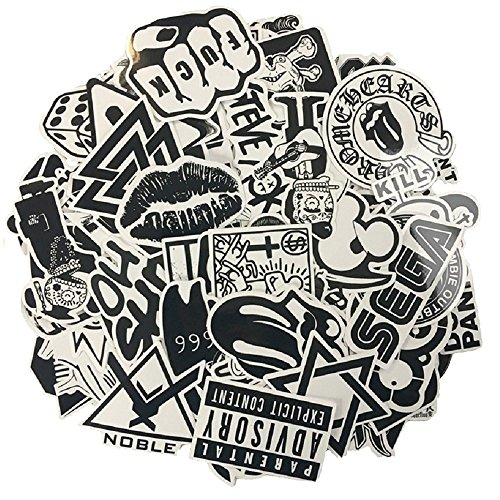 120pcs-black-white-vinyl-sticker-graffiti-decal-perfect-to-laptops-skateboards-luggage-cars-bumpers-