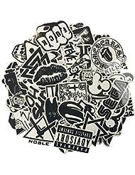 120pcs Negro Blanco vinilo Graffiti de afilar de Complete Que a los portátiles, Skateboards, equipaje, coches, Amortiguador, bicicletas, Motocicleta, Casco, ventana, Guitarra, snowboard, Teléfono móvil