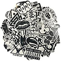 Decalcomanie bianche in bianco dei graffiti dell'etichetta del vinile di 120PCS perfetto a portatili, skateboards, bagagli, automobili, paraurti, bici, motociclo, casco, finestra, chitarra, snowboard, cellulare