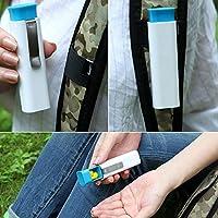 EMVANV Pillendose, 3Fächer, mit Clip, für Pillen, Medizin, für Zuhause, Container-Box preisvergleich bei billige-tabletten.eu
