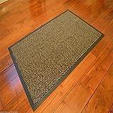 Robuste Eingangsmatte, rutschfeste Schmutzfangmatte, groß, klein, Boden-/Fußmatten, Teppich, Gummi-Rückseite, Büro, braun, 60 x 90cm Door Mat