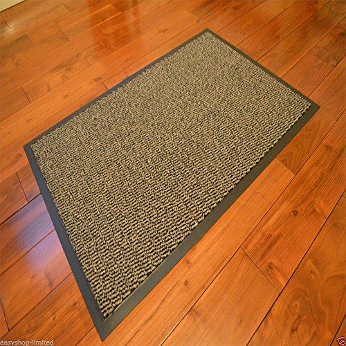 fu matte braun Robuste Eingangsmatte, rutschfeste Schmutzfangmatte, groß, klein, Boden-/Fußmatten, Teppich, Gummi-Rückseite, Büro, braun, 60 x 90cm Door Mat