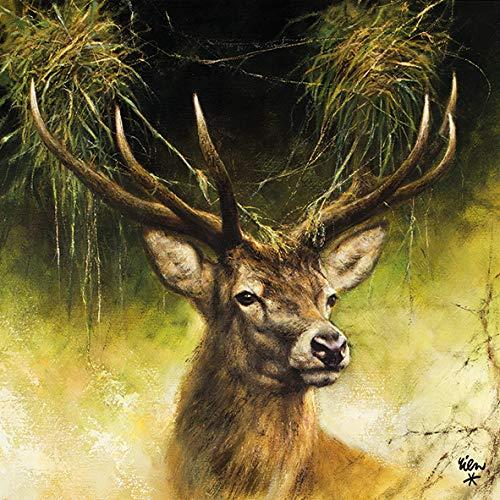 20 Serviette Hirsch Trophäe Jagd Tier Wald 33x33 cm