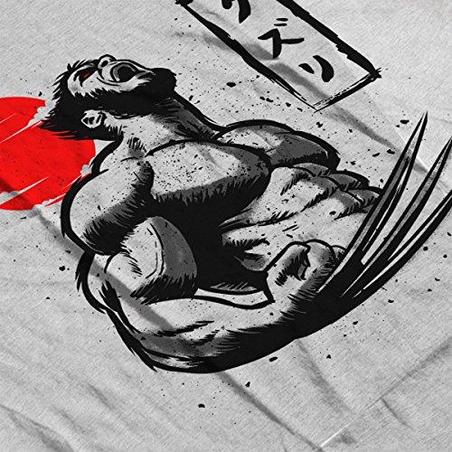 X Men Wolverine Logan Claws Women's Hooded Sweatshirt Heather Grey