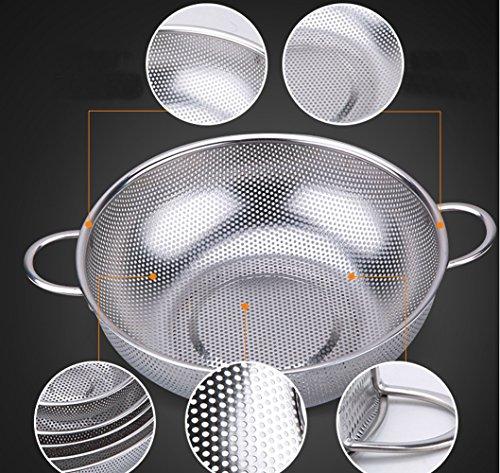 rykey Edelstahl Sieb–mikroperforierten Teesieb, Edelstahl Küche Sieb mit feinem Mesh 28,5cm breit silber - 6