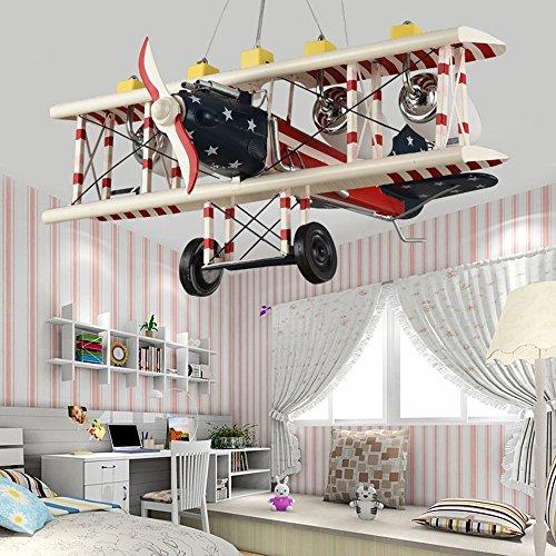 ᐅ retro flugzeug-kinderzimmer-jungen-kreative pers5onlichkeit ... - Kronleuchter Kinderzimmer Weis