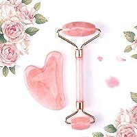 MUOBOFU Outil Guasha en quartz rose, en forme de cœur, pour la beauté et le traitement – Jade naturelle pour le soin de…