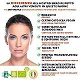 BIO Gesichtsserum mit reiner Organischen Hyaluronsäure und hochwertigem Vitamin C - Doppelte Menge 60ml – Anti Age Behandlung - Feuchtigkeitsspendend und belebend für das Gesicht – Anti Falten und Anti Flecken Vitamin C Serum - 4
