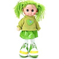Truvendor Enterprises Beautiful Fluffy Smiling Doll Toy for Girls with Lights and Music - Soft and Cute - 36 cms (Green)