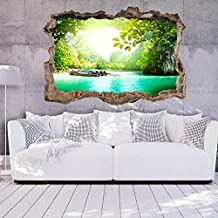Ilusion Optica 3D 140x100 cm Fotomurales Papel pintado Pared 3D Papel tejido no tejido Poster Panorama Cuadro Paisaje Naturaleza