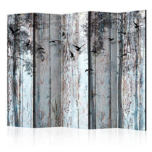 murando - Biombo Vintage Madera Pájaro 225x172 cm - de impresión Uni