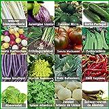 Mischung/Mix/Set'Gartengemüse' 16 x Samen (10-50 Stück) nicht alltäglicher Gemüsesorten aus Portugal / 100% Natur (Keine Chemie/künstliche Wachstums-Helfer)