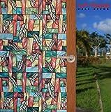 Arthome Frosted dekorative Sichtschutz Fenster Filme kein Kleber selbst Statische Anti UV nicht klebend abnehmbar für Badezimmer Wohnzimmer Schlafzimmer Küche Büro Home
