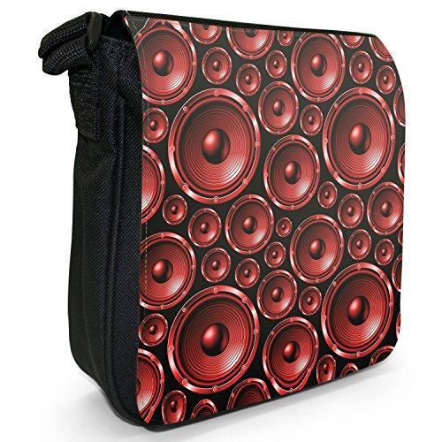 Fancy A Snuggle, Borsa a tracolla donna Muster mit Lautsprechern Rot