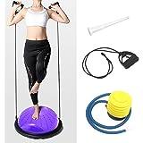 ISE Balance Trainer Ball Ballon d'équilibre Ø 46 cm,équipement de Fitness avec Cordes élastiques, Demi Ballon pour Yoga Pilates Home Fitness, Max. 150 KG, SY-BAS1003