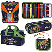 Scout Limited Edition Nano Schulranzen-Set 5-tlg. Dino Expedition