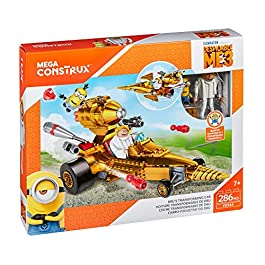 Mega Bloks-FDX84 Minions Disney Veh&iacuteculo transformable de DRU, Multicolor (Mattel FDX84)
