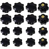 Osuter 20PCS Zwarte Draad Klemknop Vorm Ster Grip Knop Duurzaam voor Werktuigmachines (M6 en M8)