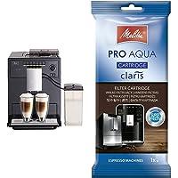 Melitta Caffeo CI E970-103, Kaffeevollautomat mit Milchbehälter, Zweikammern-Bohnenbehälter, Schwarz & 192830…