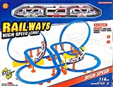 #2: Toys High Speed Railway track train with 360 degree rotation stunt