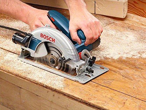 Bosch Professional Handkreissäge GKS 190 (mit 1 Sägeblatt 190 mm, 70 mm Schnitttiefe, 1,400 W) blau, 0601623000 - 2