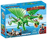 PLAYMOBIL DreamWorks Dragons 9458 Dragón 2 Cabezas con Chusco y Brusca